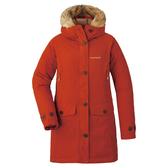 [好也戶外]mont-bell Husky Coat 650FP羽絨連帽長版外套 橘紅/墨綠No.1101569-BRIC/HTGN