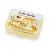 〔小禮堂〕布丁狗 日製造型貼紙組附盒《黃.鬆餅》40枚入.裝飾貼.黏貼用品 4901610-03763