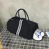 旅行包鞋位健身包旅行包女手提韓版短途行李包運動旅游包男大容量旅行袋  萌萌