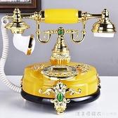 慕予臻 歐式復古電話機座機法式田園家用辦公電話工藝禮品電話機 NMS漾美眉韓衣