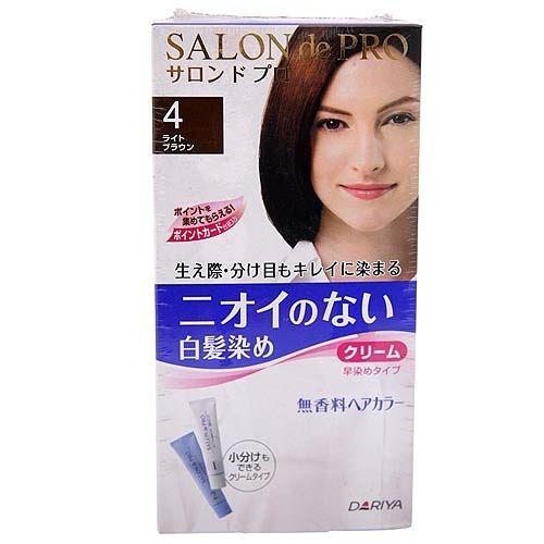 DARIYA 塔利雅 沙龍級染髮劑-無味型白髮染(淺褐色4)【七三七香水精品坊】
