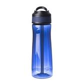 HOLA 潔爾彈蓋吸管耐用型隨手瓶-670ml藍