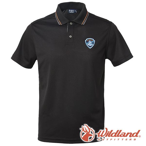 【wildland 荒野】男 COOLMAX 抗UV排汗YOKE衣-黑色 0A61616 POLO衫 吸濕 排汗 抗紫外線
