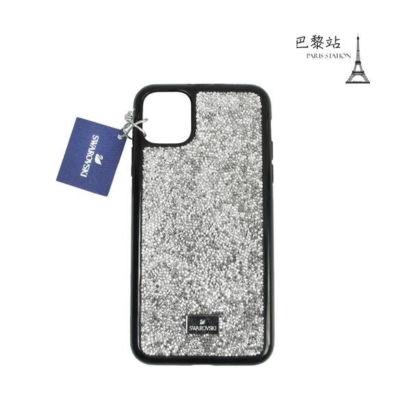 【巴黎站二手名牌專賣店】*現貨*SWAROVSKI 真品*銀色水晶碎鑽 iPhone 11 Pro Max 手機殼