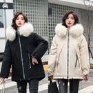 派克服棉襖女士外套 羽絨外套韓版外套 冬季加厚上衣 休閒夾克外套加絨 修身顯瘦棉服女生外套