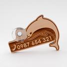 芬多森林|台灣檜木臨停車牌-海豚款,汽車停車電話牌,海洋木製號碼卡,高品質雷射雕刻