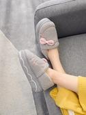 毛毛鞋女 包跟棉拖鞋女冬季可愛厚底毛毛絨宿舍室內家用防滑防水 超級玩家