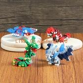 微小顆粒拼裝樂高積木玩具成年人益智拼圖寵物小精靈寶可夢【白嶼家居】