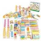 木製玩具  木質 多重機關設計有趣骨牌...