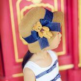 兒童草帽女沙灘帽親子防曬遮陽帽出游漁夫涼帽子潮夏兒童女士盆帽   良品鋪子