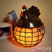 【鹽夢工場】創意造型鹽燈-招財雞(咖啡)
