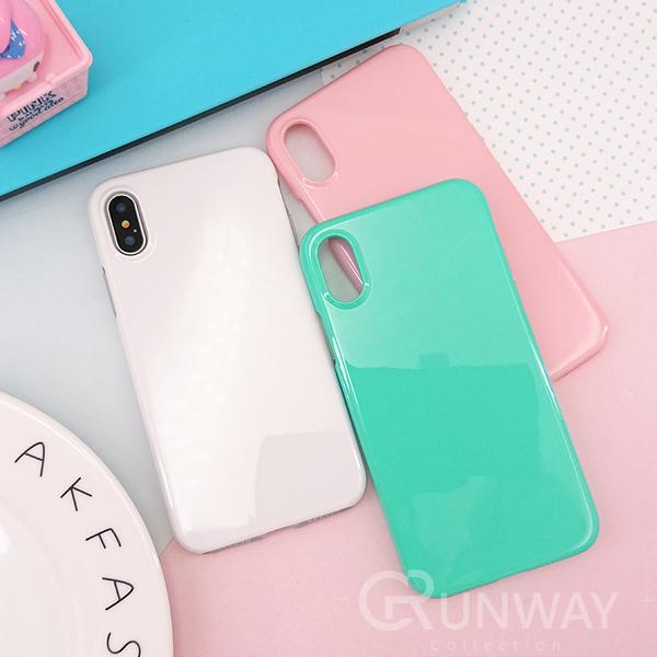 【R】馬卡龍 純色 二合一 防摔殼 手機殼 iPhone X XS 蘋果 全包邊軟殼
