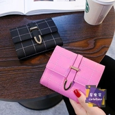 錢包 錢包女短款三折時尚多卡位功能學生小錢夾2019新款歐美零錢夾 4色【快速出貨】