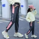 女童褲子2021新款外穿衛褲兒童春秋洋氣中大童春季女孩休閒運動褲 韓語空間