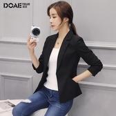 西裝外套女2020春秋新款韓版修身長袖休閒chic女士黑色小西服短款 雙11提前購