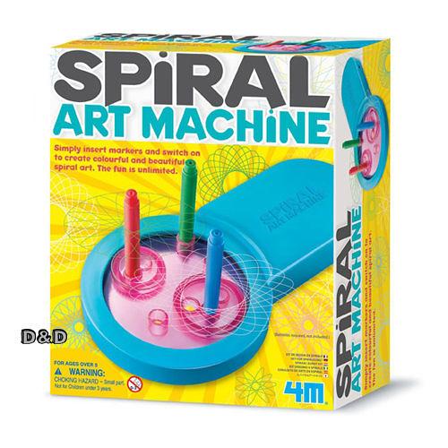 《 4M美勞創作 》Spiral Art Machine 幾何圖形旋轉機   ╭★ JOYBUS玩具百貨