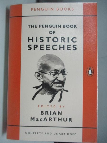 【書寶二手書T5/歷史_ADR】The Penguin Book of Historic Speeches_Brian MacArthur