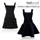 美甲美睫紋繡黑色工作圍裙 工作服 餐廳 手作坊 工作服 料理 美甲/美髮 Nails Mall