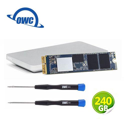 OWC Aura Pro X2 240GB NVMe SSD 完整升級套件 含工具及Envoy Pro外接盒 (OWCS3DAPT4MB02K)