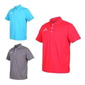 KAPPA 男短袖POLO衫(台灣製 高爾夫 吸濕排汗 慢跑 運動 上衣 網球 羽球≡體院≡ 311821W