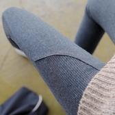 秋款螺紋灰色純棉衛生褲女外穿薄款秋冬季九分長褲內穿衛生褲  免運快速出貨