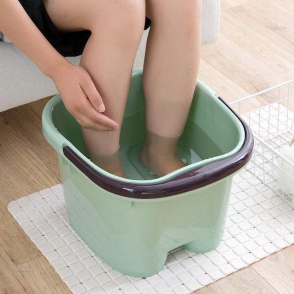 居家家 日式足浴盆腳底按摩滾輪泡腳桶 家用塑料洗腳盆大號足浴桶