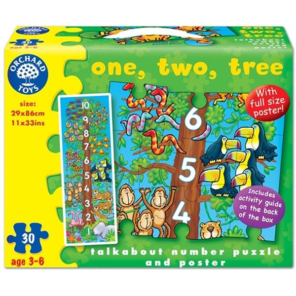 【英國 Orchard Toys】遊戲拼圖-數樹123 OT-276