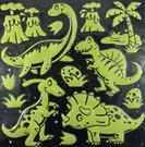 【收藏天地】螢光壁貼系列-恐龍/  家飾 生活 居家 裝飾 掛飾 環保 卡通 可愛
