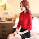 ZY-669-PF立領純色OL職業修身長袖上衣~秋裝新款(S~4XL)~美之札