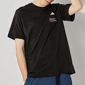 Adidas POCKET TEE M 男 黑 三條線 休閒 短袖 GT5306