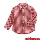 MIKI HOUSE 經典格子襯衫(紅)