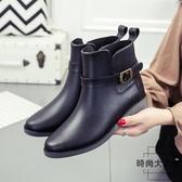 切爾西雨鞋女韓國成人防水防滑短筒大碼時尚雨靴膠鞋【時尚大衣櫥】