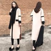 大衣外套 秋冬加厚時尚毛呢外套女中長款韓版新款寬鬆呢子大衣