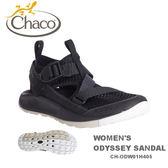 【速捷戶外】美國 Chaco CH-ODW01H405 越野紓壓水陸鞋-標準 女款(黑)  ODYSSEY ,戶外涼鞋,佳扣