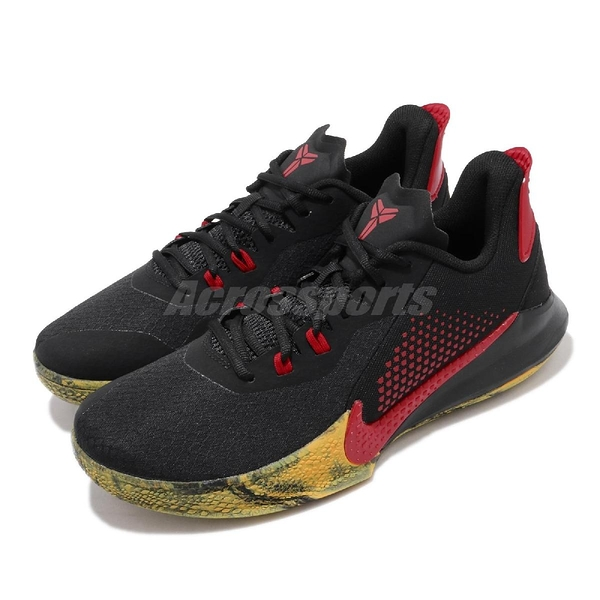 Nike 籃球鞋 Mamba Fury EP 黑 紅 黃 Kobe 老大 李小龍 男鞋 【PUMP306】 CK2088-002
