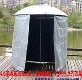 釣魚傘圍布防雨布戶外釣魚傘2.2米萬向防雨防風防曬防紫外線全圍 依凡卡時尚