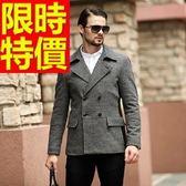 毛呢大衣-羊毛隨意禦寒短版男風衣外套62n76[巴黎精品]