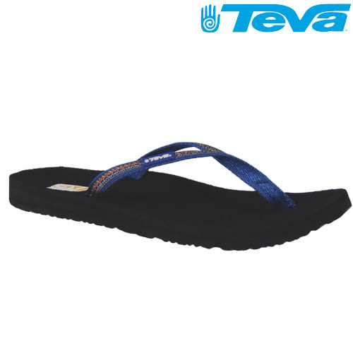 TEVA《女款》超輕量舒適記憶鞋床織帶夾腳拖 Contoured Ribbon Mush – 蘇丹藍