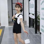 女童夏季背帶褲套裝超洋氣衣服女裝【聚寶屋】