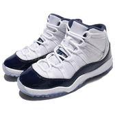 Nike Air Jordan 11 Retro BP Win Like 82 白 深藍 XI 喬丹11代 小朋友 中童鞋【PUMP306】 378039-123