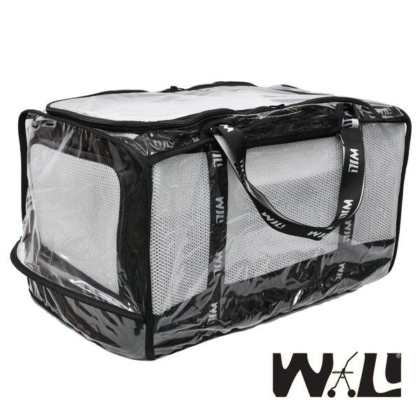 WILL設計+寵物用品*WB款加大極透氣款外出包(☆白網x黑+防風雨罩)