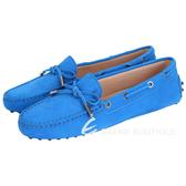 TOD'S Gommino 經典綁帶豆豆休閒鞋(女鞋/淺藍色) 1420147-B1