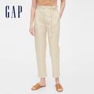 Gap女裝簡約風格純色休閒長褲542981-米白色