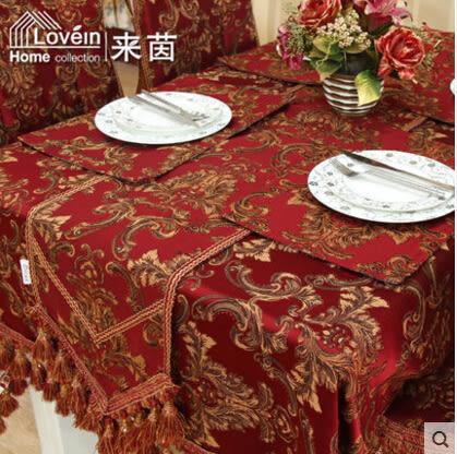 歐式奢華婚慶 金絲立體繡花桌布桌布椅墊椅套抱枕套布藝