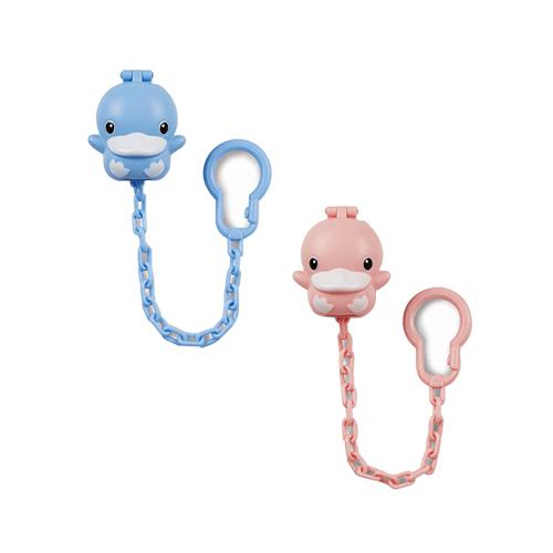 【奇買親子購物網】酷咕鴨KU.KU.造型奶嘴鍊+收藏盒(藍/粉)