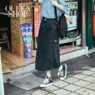 Queen Shop【03020629】側口袋造型開衩牛仔裙 S/M/L/XL*現+預*