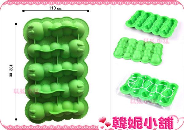 ☆韓妮小舖☆【QD0542】毛毛蟲 製冰 製冰盒 製冰器 製冰格 冰塊模 巧克力 矽膠模型