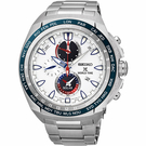 SEIKO 精工 PROSPEX 海世界時間時尚手錶-白/44.6mm V195-0AB0S(SSC485P1)