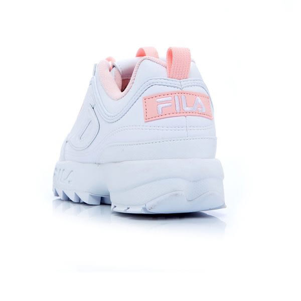 FILA DISRUPTOR 2 女復古運動鋸齒鞋 - 粉白 4C113T115