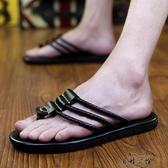 百姓公館 男拖鞋男士沙灘涼拖個性外穿涼鞋